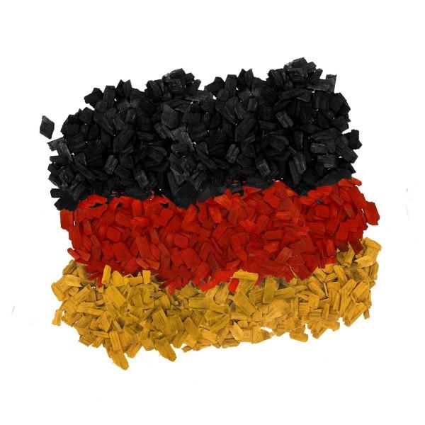 Hackschnitzel Schwarz Rot Gold Flagge