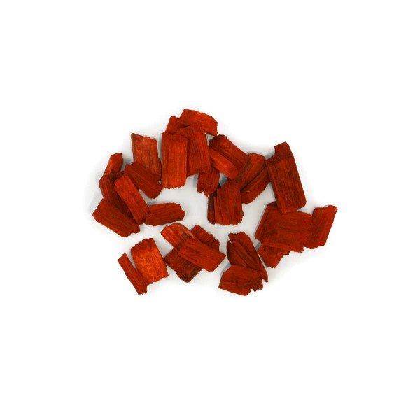 Holzhackschnitzel rot